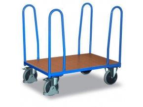 Plošinové vozíky se čtyřmi rohovými podpěrami, do 500 kg