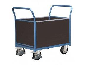 Plošinové vozíky se dvěma madly s plnou výplní a bočními stěnami, do 1 000 kg