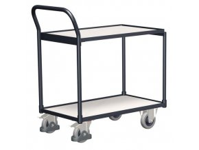 Antistatické policové vozíky s madlem, do 250 kg, 2 police