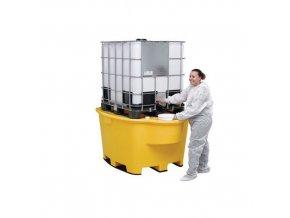 Plastové záchytné vany pod IBC a KTC kontejnery