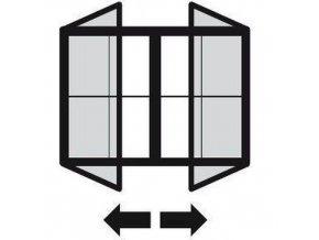 Magnetické vitríny Daisy, dvoukřídlé