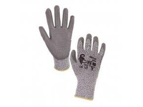 Nylonové rukavice CXS polomáčené v polyuretanu, šedé
