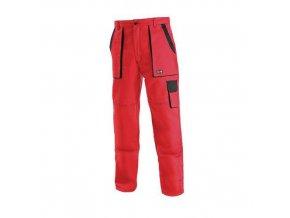 Dámské montérkové kalhoty CXS, červené/černé