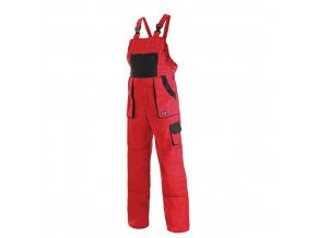 Dámské montérkové kalhoty CXS s laclem, červené/černé
