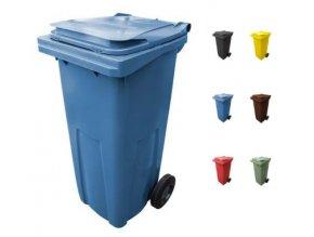 plastove popelnice 120 litru venkovni skladem levne