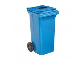 Plastové venkovní popelnice na tříděný odpad, objem 120 l