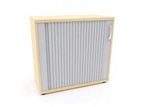 Nízké široké skříně Abonent, 75 x 80 x 40 cm, s roletou - pravé provedení