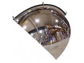 Kontrolní parabolická zrcadla, rohová výseč