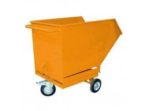 Pojízdné výklopné kontejnery s kapsami pro vysokozdvižný vozík, objem 250 l