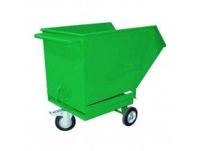 Pojízdné výklopné kontejnery s kapsami pro vysokozdvižný vozík, objem 400 l