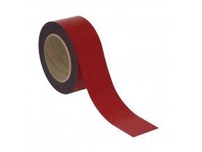 Magnetické pásky na regály Manu, 10 m, červené