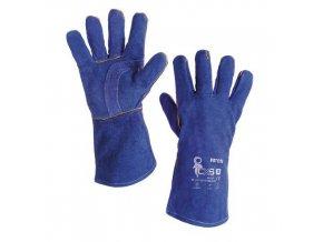 Svářečské kožené rukavice CXS, modré
