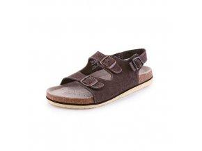 Zdravotní kožené sandály CXS Dr. Cork, dámské, hnědé