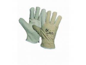 Zimní kožené rukavice CXS, béžové