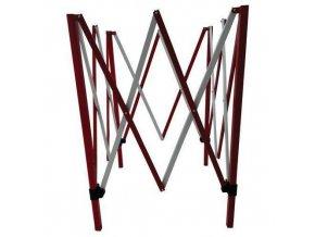 Čtvercová kovová mobilní zábrana Manu, skládací, 130 x 130 cm