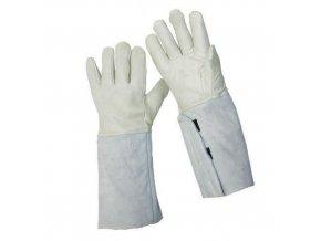 Zimní kožené rukavice Manu, béžové