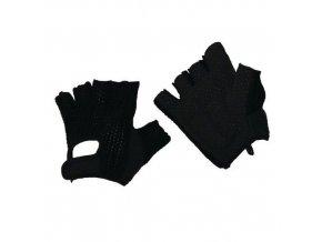 Bavlněné rukavice Manu s terčíky, černé