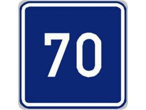 Dopravní značka Doporučená rychlost (IP5)