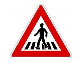 Dopravní značka Pozor, přechod pro chodce (A11)