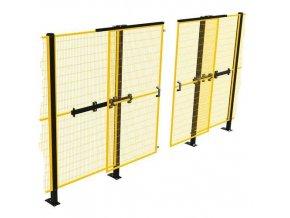 Posuvné jednokřídlé dveře k ochrannému oplocení