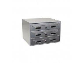 Modulová kovová poštovní schránka Relax, 3 boxy