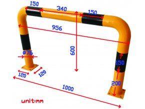Kovová zábrana Manu, střední, délka 100 cm