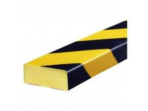 Hranatý ochranný profil Ampere, na rovný povrch, délka 100 cm