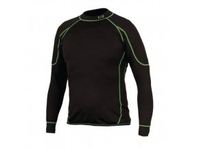 Pánské termo tričko s dlouhým rukávem, černé/zelené