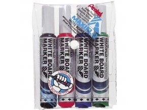 Set popisovačů Pentel - černá, modrá, červená, zelená