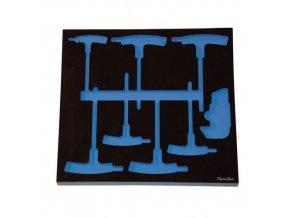Pěnová výplň pro sadu klíčů imbus a šestihranných T klíčů Manu, 16 ks
