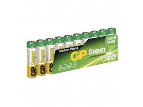 Alkalická baterie GP Super LR03 (AAA) fólie