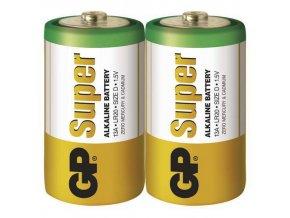 Alkalická baterie GP Super LR20 (D) fólie
