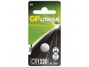Lithiová knoflíková baterie GP CR1220, blistr