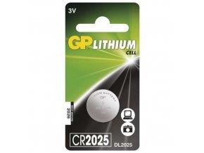 Lithiová knoflíková baterie GP CR2025, blistr