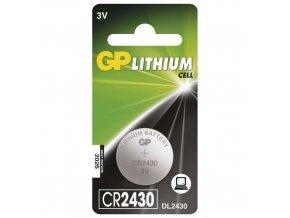Lithiová knoflíková baterie GP CR2430, blistr