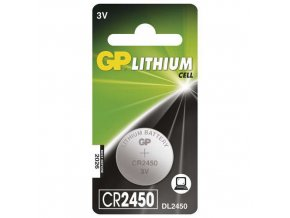 Lithiová knoflíková baterie GP CR2450, blistr
