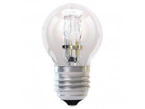 Halogenová žárovka ECO Mini Globe 42W E27 teplá bílá, stmív.