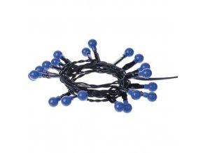 20 LED řetěz - kuličky, 2xAA 1,5m, modrá, časovač