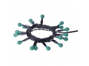 20 LED řetěz - kuličky, 2xAA 1,5m, zelená, časovač