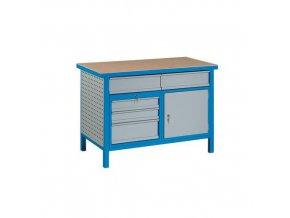Svařovaný dílenský stůl Perfekt, 85 x 120 x 60 cm