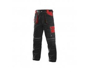 Kalhoty do pasu ORION TEODOR, zimní, pánské, černo-červené