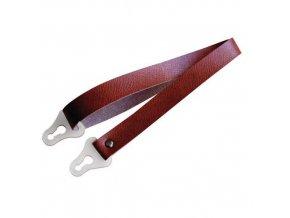 Kožený podbradní pásek pro přilbu Prohelm