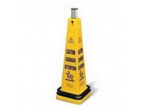 Přenosný výstražný kužel Rubbermaid Safety Cone s rolovací páskou - Pozor