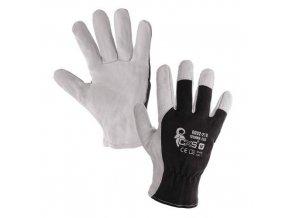 Kombinované rukavice TECHNIK ECO, černo-bílé