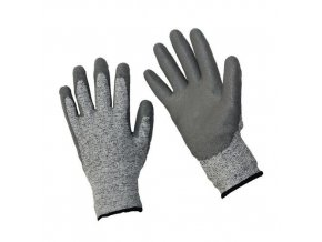 Polyethylenové rukavice Manu polomáčené v polyuretanu, šedé