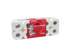 Toaletní papír Celtex Professional 2vrstvý, 11 cm, 17,6 m, 100 % bílá, 10 rolí