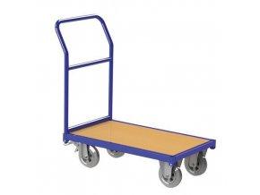 Plošinový vozík s madlem, do 500 kg