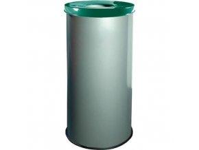 Kovové odpadkové koše EKO na tříděný odpad, objem 45 l