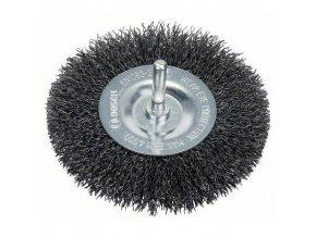 Bosch - Kotoučové ocelové kartáče  pro vrtačky (stopka 6 mm)