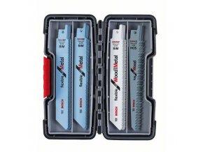 Bosch - 20dílná sada pilových plátků do pil ocasek Wood and Metal S